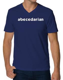 """ Abecedarian word "" V-Neck T-Shirt"