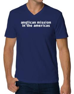 """ Anglican Mission In The Americas word "" V-Neck T-Shirt"