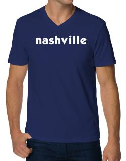 """ Nashville word "" V-Neck T-Shirt"