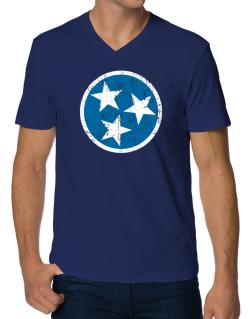 Tennessee Flag V-Neck T-Shirt