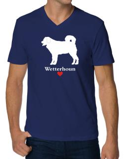 Wetterhoun love V-Neck T-Shirt