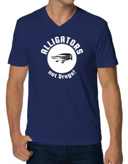 Alligators not drugs! V-Neck T-Shirt