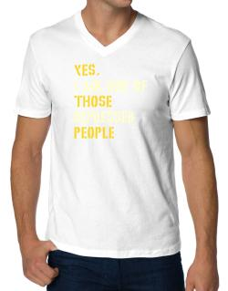 """ Those depressed people "" V-Neck T-Shirt"