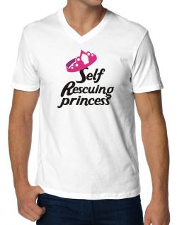 Playeras Cuello V de Self Rescuing Princess