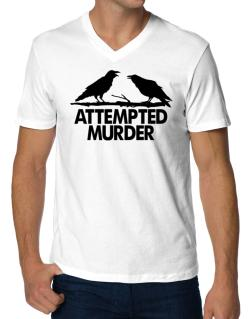 Crows Attempted Murder V-Neck T-Shirt