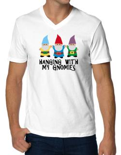 Hanging with my Gnomies V-Neck T-Shirt