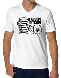 I accept Bitcoin V-Neck T-Shirt