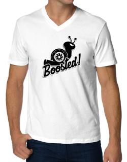 Boosted turbo snail V-Neck T-Shirt