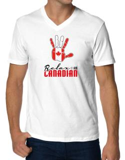 Playeras Cuello V de Canada relax I am Canadian
