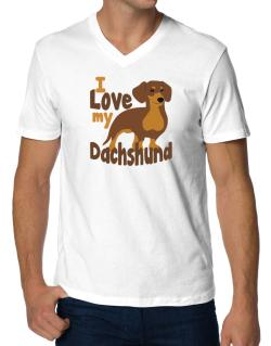I love my dachshund V-Neck T-Shirt