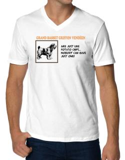 Grand Basset Griffon Vendéen are just like potato chips V-Neck T-Shirt