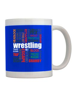 Wrestling Words Mug