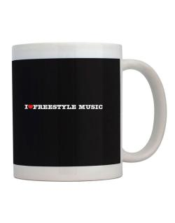 Taza de I Love Freestyle Music