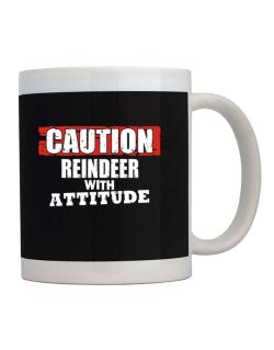 Caution - Reindeer With Attitude Mug