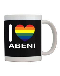 I Love Abeni - Rainbow Heart Mug