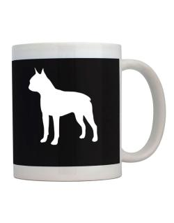 Boston Terrier Silhouette Embroidery Mug