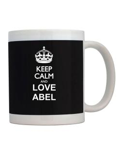 Keep calm and love Abel Mug