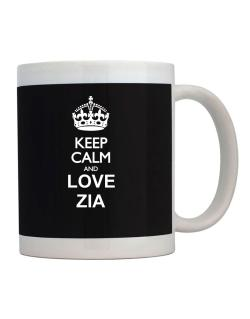 Keep calm and love Zia Mug