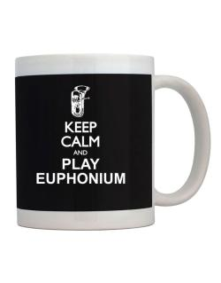 Taza de Keep calm and play Euphonium - silhouette