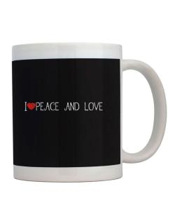 I love Peace And Love cool style Mug