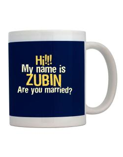 Hi My Name Is Zubin Are You Married? Mug