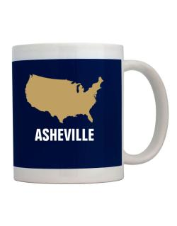 Asheville - Usa Map Mug