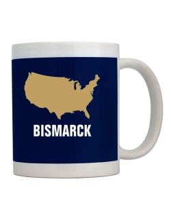 Bismarck - Usa Map Mug