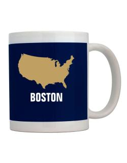Boston - Usa Map Mug