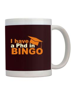 I Have A Phd In Bingo Mug