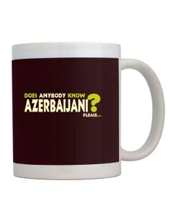 Does Anybody Know Azerbaijani? Please... Mug