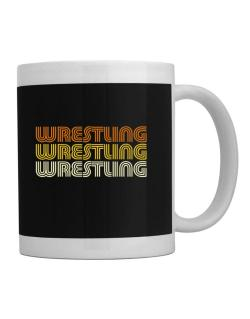 Wrestling Retro Color Mug