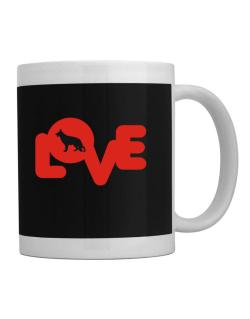 Love Silhouette German Shepherd Mug