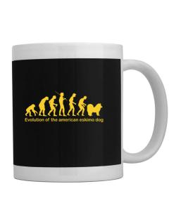 Evolution Of The American Eskimo Dog Mug