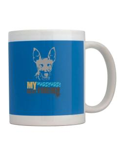 """ Fox Terrier MY BEST FRIEND - URBAN STYLE "" Mug"