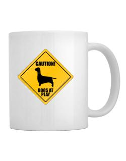 """ Dogs at play Dachshund ""  Mug"