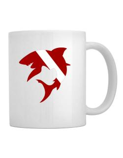 Diver down Shark Scuba Diving Mug