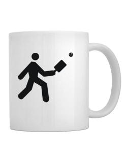 Pickleball Stickman Mug