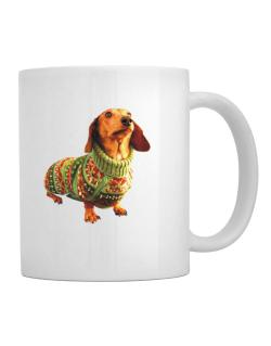 Dachshund christmas sweater Mug