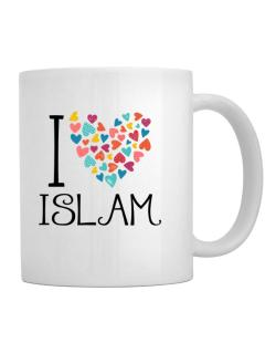 I love Islam colorful hearts Mug
