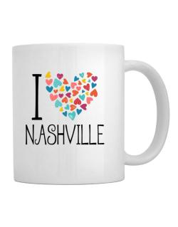 I love Nashville colorful hearts Mug