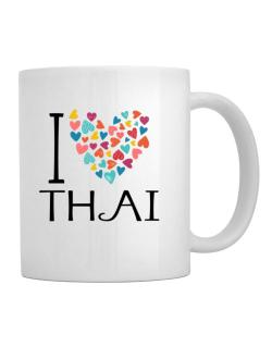 I love Thai colorful hearts Mug