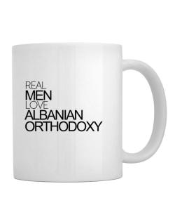 Real men love Albanian Orthodoxy Mug