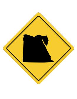 Egypt Map Crossing Sign