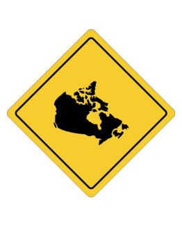 Canada Map Crossing Sign