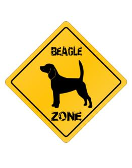 Beagle Zone - Silhouette Crossing Sign