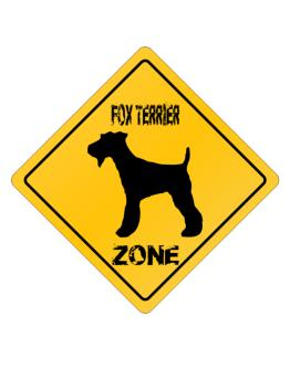 Fox Terrier Zone - Silhouette Crossing Sign