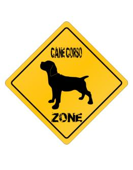 Cane Corso Zone - Silhouette Crossing Sign