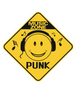 Music Zone Punk Crossing Sign