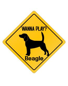 Wanna Play? Beagle Crossing Sign