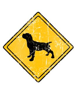 Cane Corso Sign Old / Vintage Crossing Sign